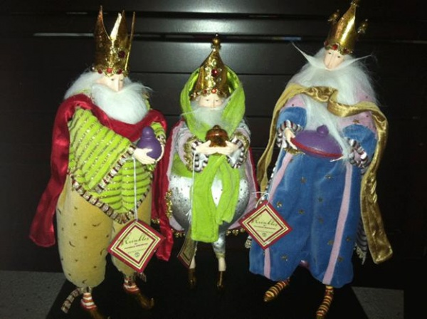 Depertment 56 KRINKLES MAGI THREE KING WISE MEN DOLL FIGURES ~New With Tags ~