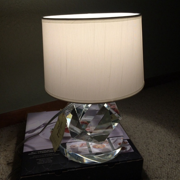 RALPH LAUREN CRYSTAL FACETED DESK TABLE LAMP ~NEW~
