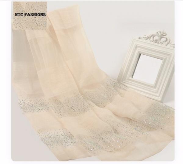 Fashoin Silk Wool Blend Rectangle Thin Soild Color Scarf