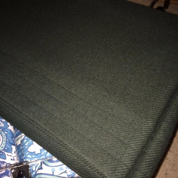 Ralph Lauren Channel Stitch 100% Wool F/Queen Blanket GREEN $355.00 ~NEW~