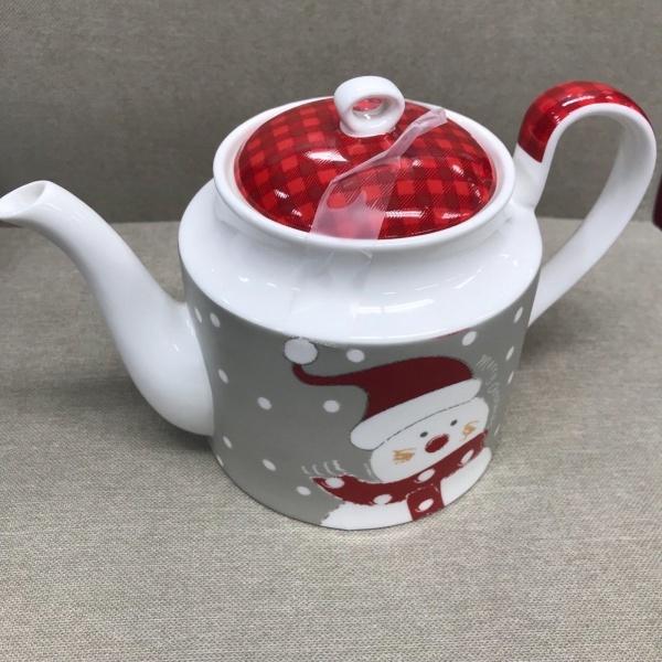 Stechcol Merry Christmas Santa Teapot ~NEW ~