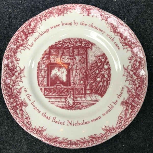 (4) Johnson Brothers Twas The Night Before Christmas Salad Plates 8 in. ~NEW ~