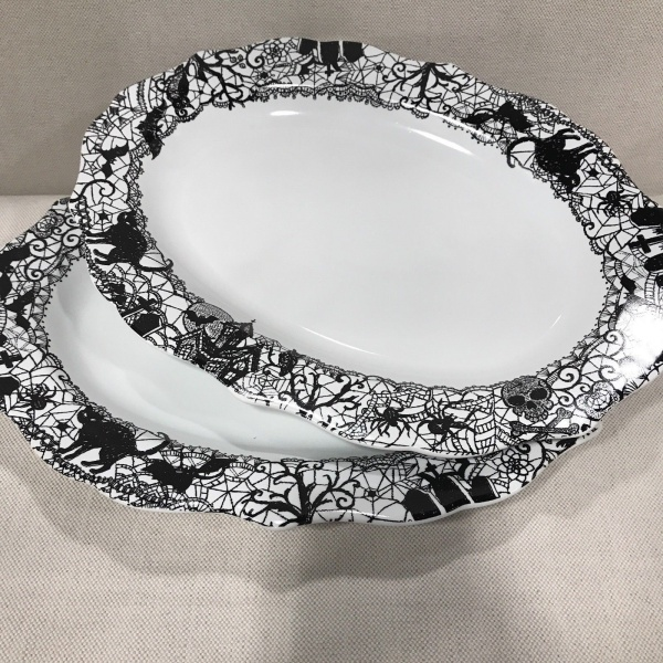 More from this seller: S l1600 thumb200 S l1600 thumb200 S l1600 thumb200   57 thumb200 Shop all 144 items (2) 222 Fifth Wiccan Lace Halloween Oval Platter Serving Plates ~NEW ~