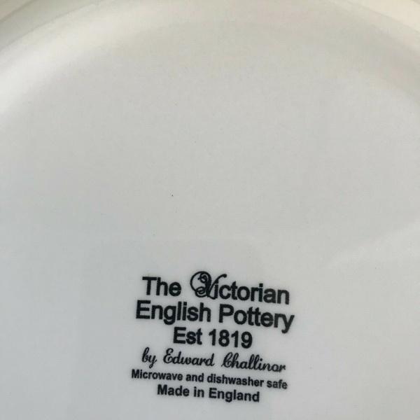 (4) The Victorian Turkey Farm Barn Thanksgiving Salad Plates 8.5 in. ~NEW ~