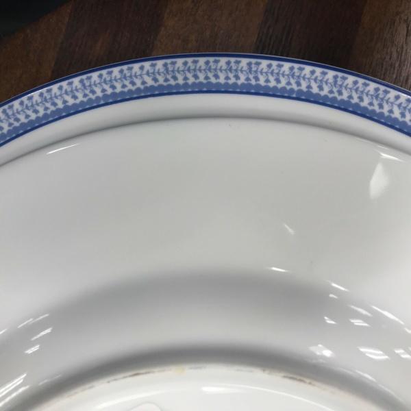 Ralph Lauren Macao Blue Porcelain Dinner Plates Set 4~NWT~