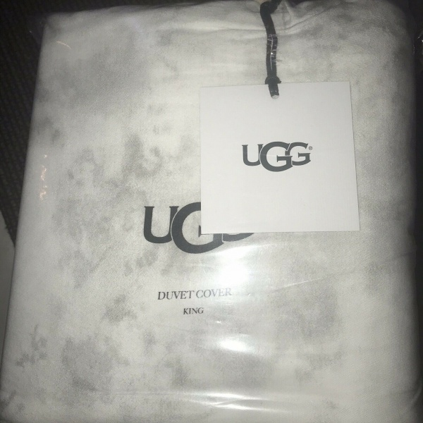 UGG Palisades Snow Off-White King Duvet Shams Set 3 ~New~
